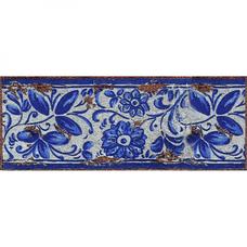 Вставка-подступенник Gresan NaturalGr4. Antiga Azul 12х33