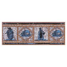 Вставка-подступенник Gresan NaturalGr4. Cadaques Azul 12х33