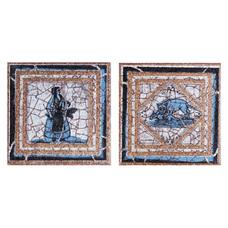 Вставка декоративная Gresan Natural Gr6. Taco Cadaques Azul 12х12