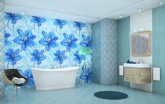 Плитка Mosaico Fleurs Azul