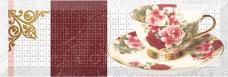 AK1012 Декор Absolut Wine 05 and Tea Flowers Decor Tea Flowers 01 10x30