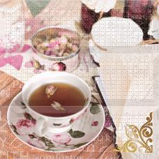 AK1011 Панно Absolut Wine 05 and Tea Flowers Composicion Tea Flowers 30x30 (комплект 3 шт.)