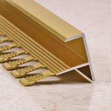 Алюминиевый F-образный профиль для ступеней