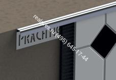 Наружный полукруглый профиль из нержавеющей стали KR Prachtig